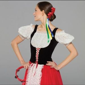 Revolution Dancewear Tarantella Dance Outfit Xs
